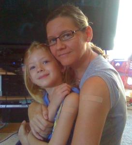 Gracie & Mama - bandaid twins