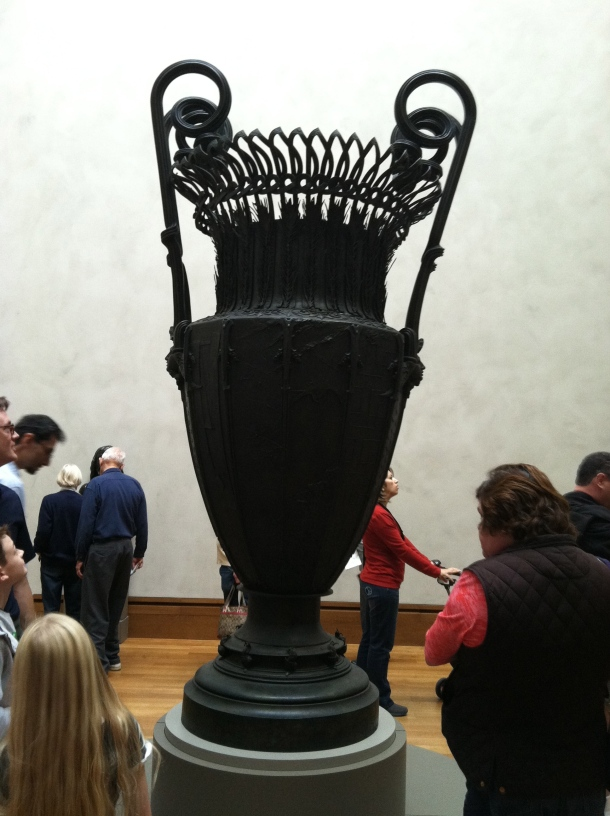 Gorgeous detailed, giant urn