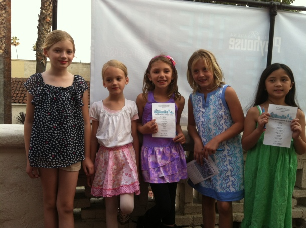 The girls with their cousin and her friends.