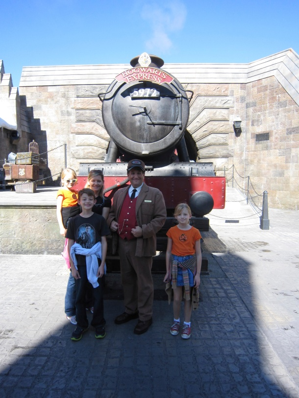 Us with the Hogwarts Express at Universal Florida.