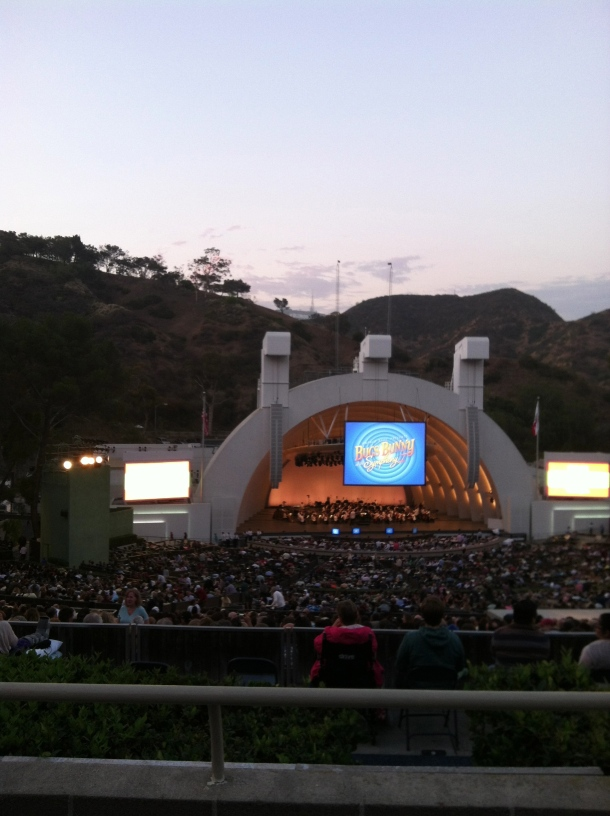We went to the Hollywood Bowl.