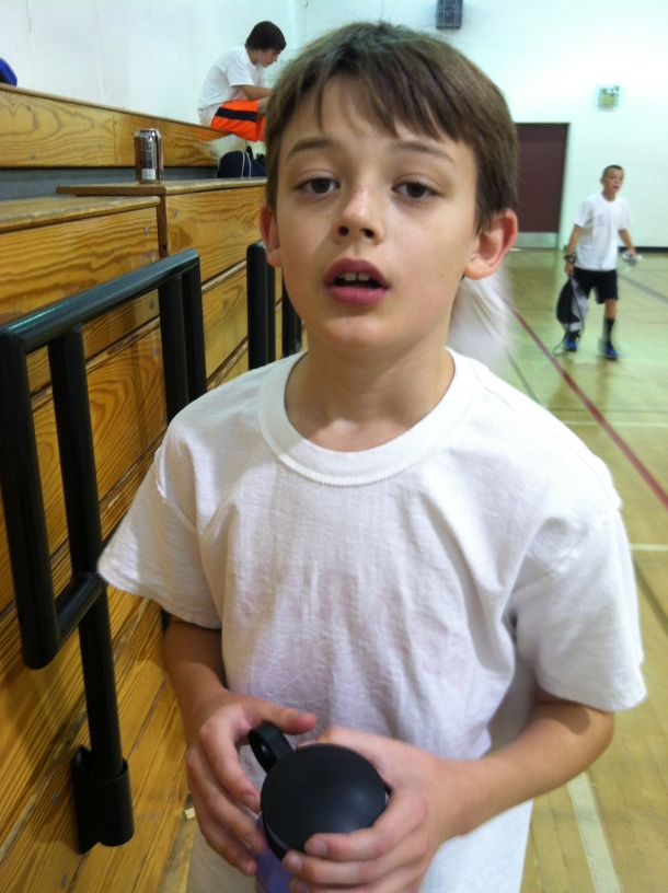 We went to basketball camp.