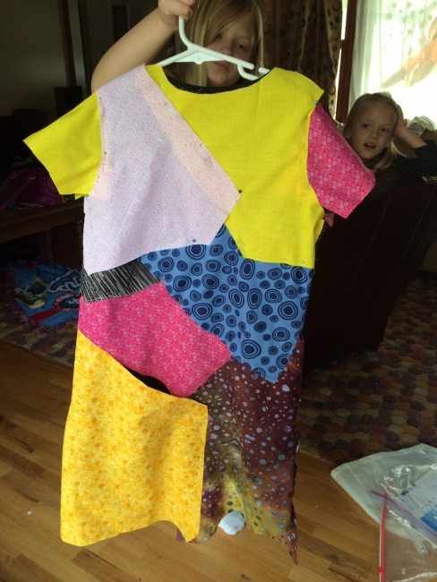 Dress before sewing.