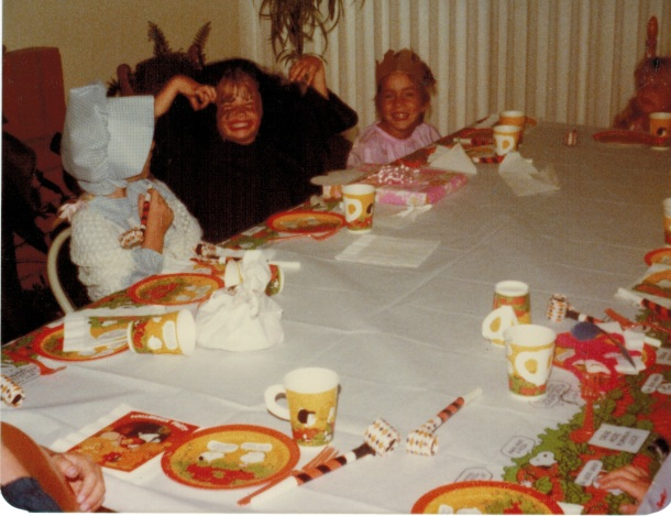 One of my early birthdays - maybe 6 or 7. I'm the witch.