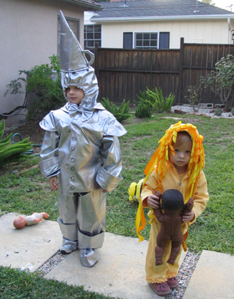 My little Tinman and kind of sad little Lion.