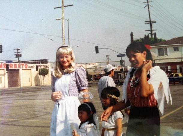 Me, on Halloween, circa 1993 or 1994.