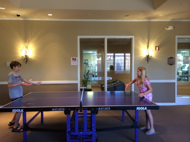 S & G trying their hands at ping-pong