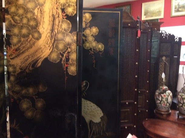 Chinese Wall at an antique shop