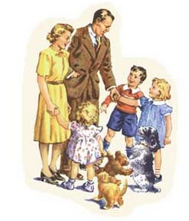I'm sure Dick and Jane and Sally always greeted their father properly.