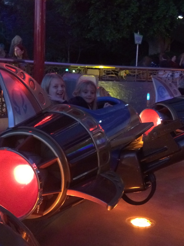 First time on the Astro Orbiters (I'd been on the old school rockets, but not these).
