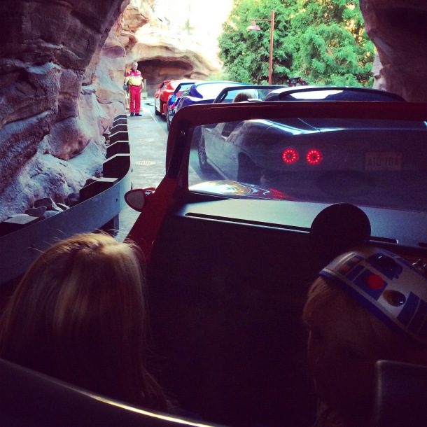 First time on Radiator Springs Racers