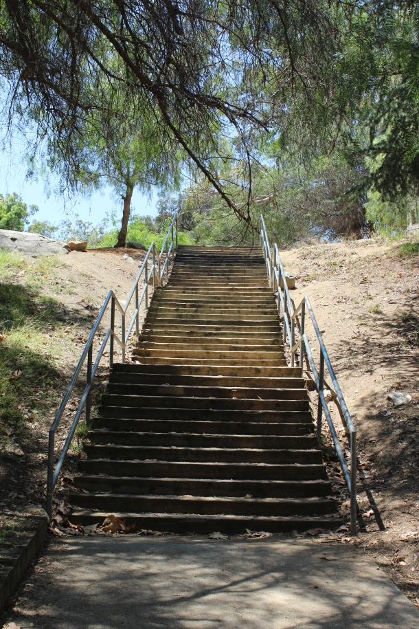 Stairway to the old zoo