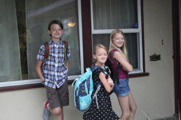 3 kids, 3 schools - high school, middle school, and elementary school